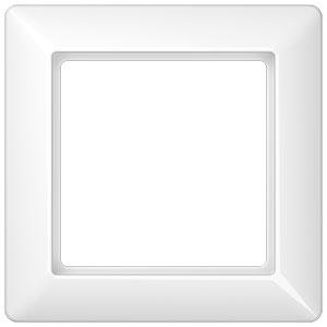 Afbeelding van afdekraam 1 voudig - as500 alpin wit (AS581WW)